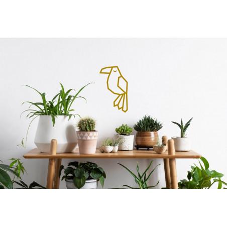 décoration DIY masking tape tuto toucan doré