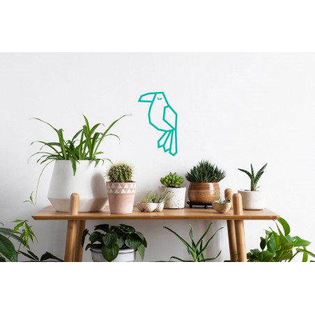 décoration DIY masking tape tuto toucan menthe