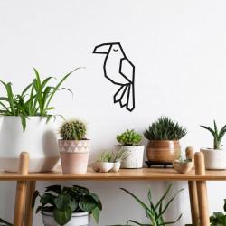 décoration DIY masking tape tuto toucan noir