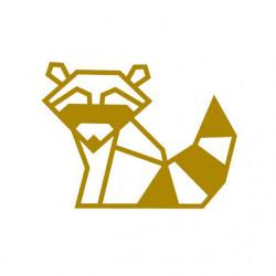 Kit diy pour masking tape raton laveur doré