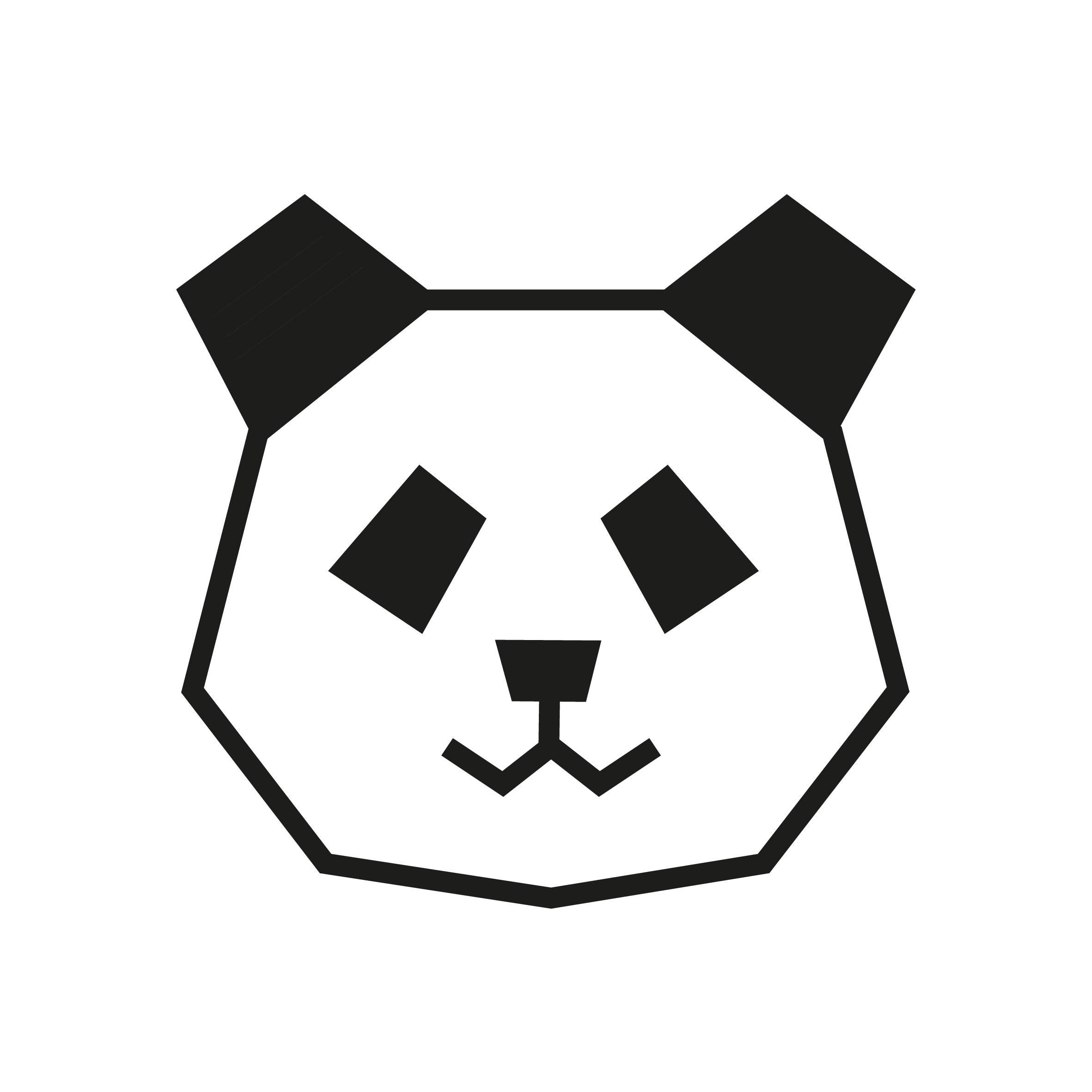 Deco patron DIY panda en masking tape noir