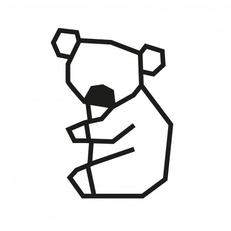 Deco patron DIY koala en masking tape noir