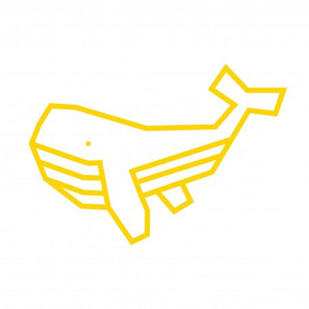 Kit DIY patron baleine déco murale jaune