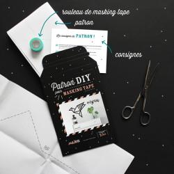 Packaging kit DIY pour masking tape oiseau