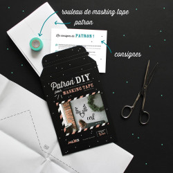 Packaging kit DIY pour masking tape cerf