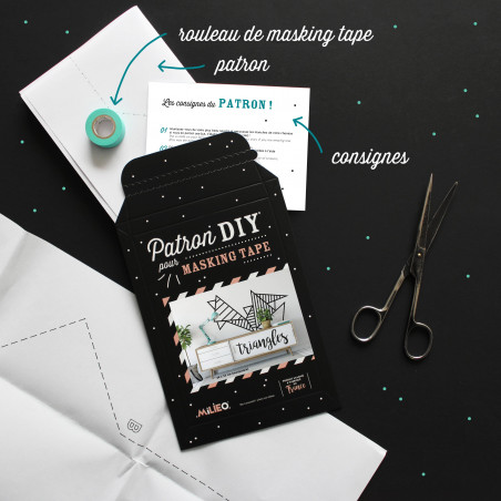 Packaging kit DIY pour masking tape triangles