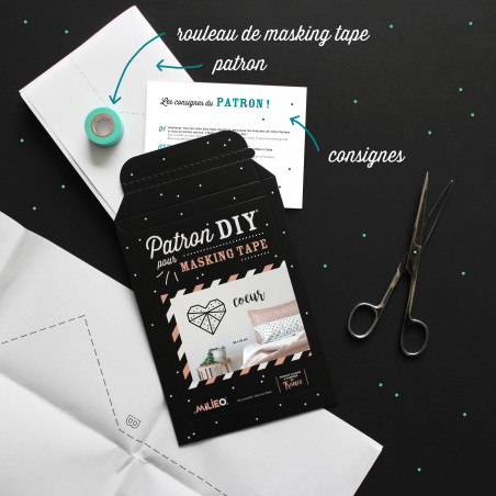 Packaging kit DIY pour masking tape coeur