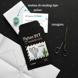 Packaging kit DIY pour masking tape cactus