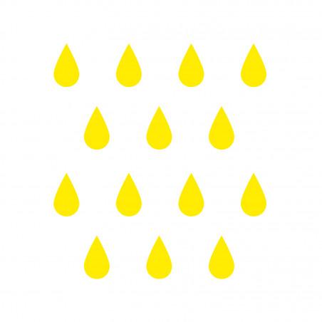 Stickers muraux déco chambre gouttes jaune