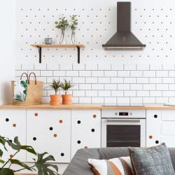 stickers muraux décoration maison petit pois cuivre