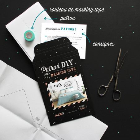 Packaging kit DIY pour masking tape modele ours