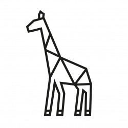 kit diy girafe en masking tape noir