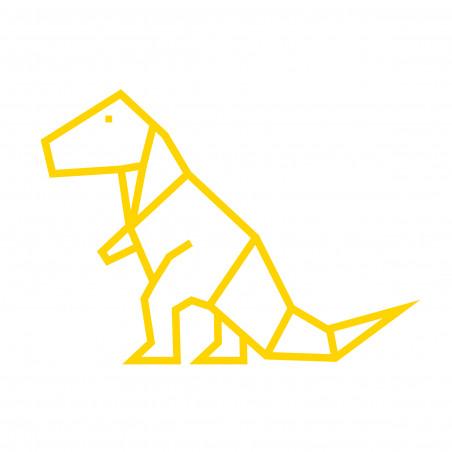 Kit diy dinosaure en masking tape jaune déco mur chambre enfant