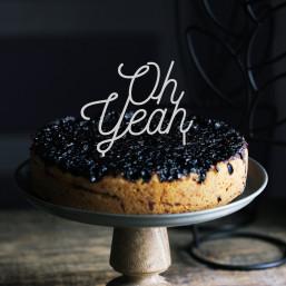 Cake topper blanc gâteau pour d'anniversaire, de mariage et de fête