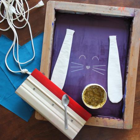 Atelier sérigraphie DIY sac pour enfant lapin Amiens