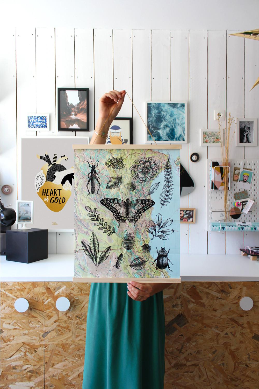 Atelier créatif DIY affiche à sérigraphier soi-même