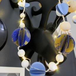 Atelier décoration DIY sérigraphie papier guirlande de Noël