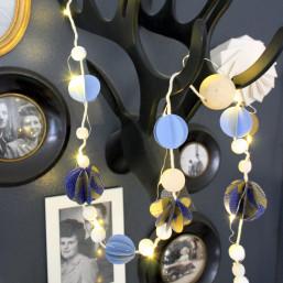 Atelier décoration DIY sérigraphie papier guirlande de Noël Amiens