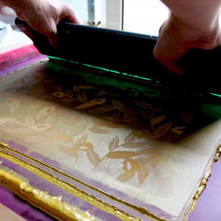 Atelier DIY de Noël guirlande de Noël avec sérigraphie Amiens