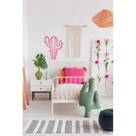 Cactus DIY en masking tape rose, décoration murale avec kit MilieO