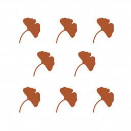 Stickers muraux feuilles de gingko cuivre