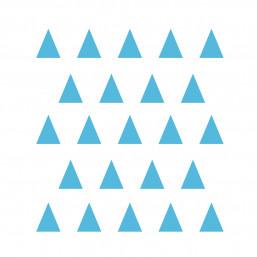 Stickers petits triangles bleu ciel déco mur