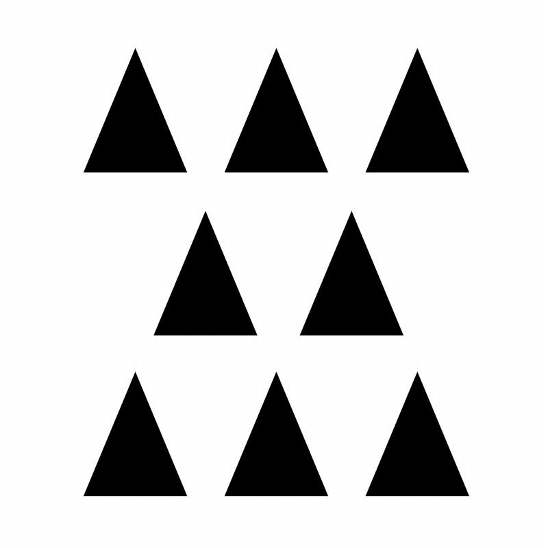 Stickers déco mur triangles noir