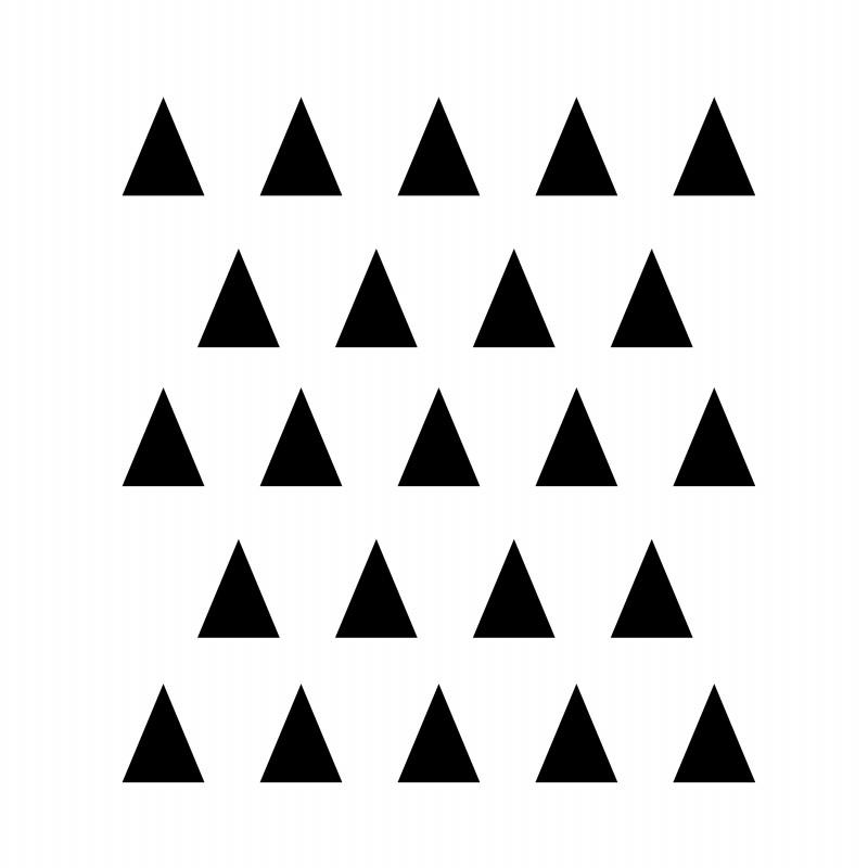 Stickers petits triangles noir déco mur