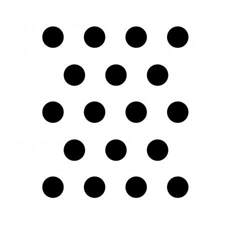 stickers muraux déco pois noir