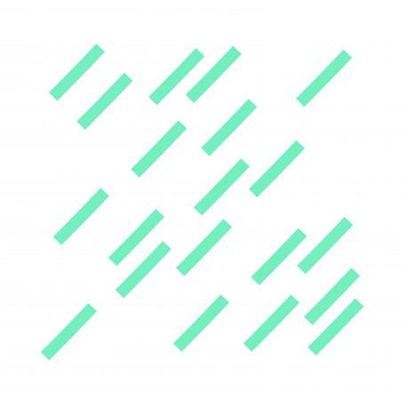 Stickers déco graphique trait menthe