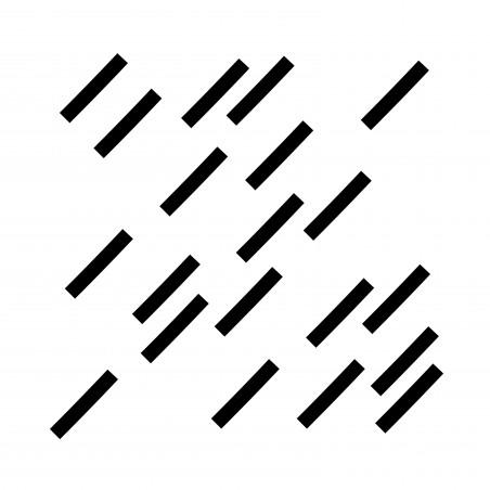 Stickers déco graphique trait noir