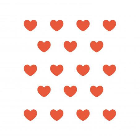 Stickers déco mur chambre enfant cœur rouge