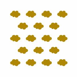 Déco mur chambre enfant nuage or