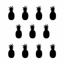 Stickers déco mur ananas noir