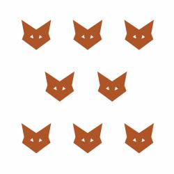 Stickers déco mur chambre enfant renard cuivre