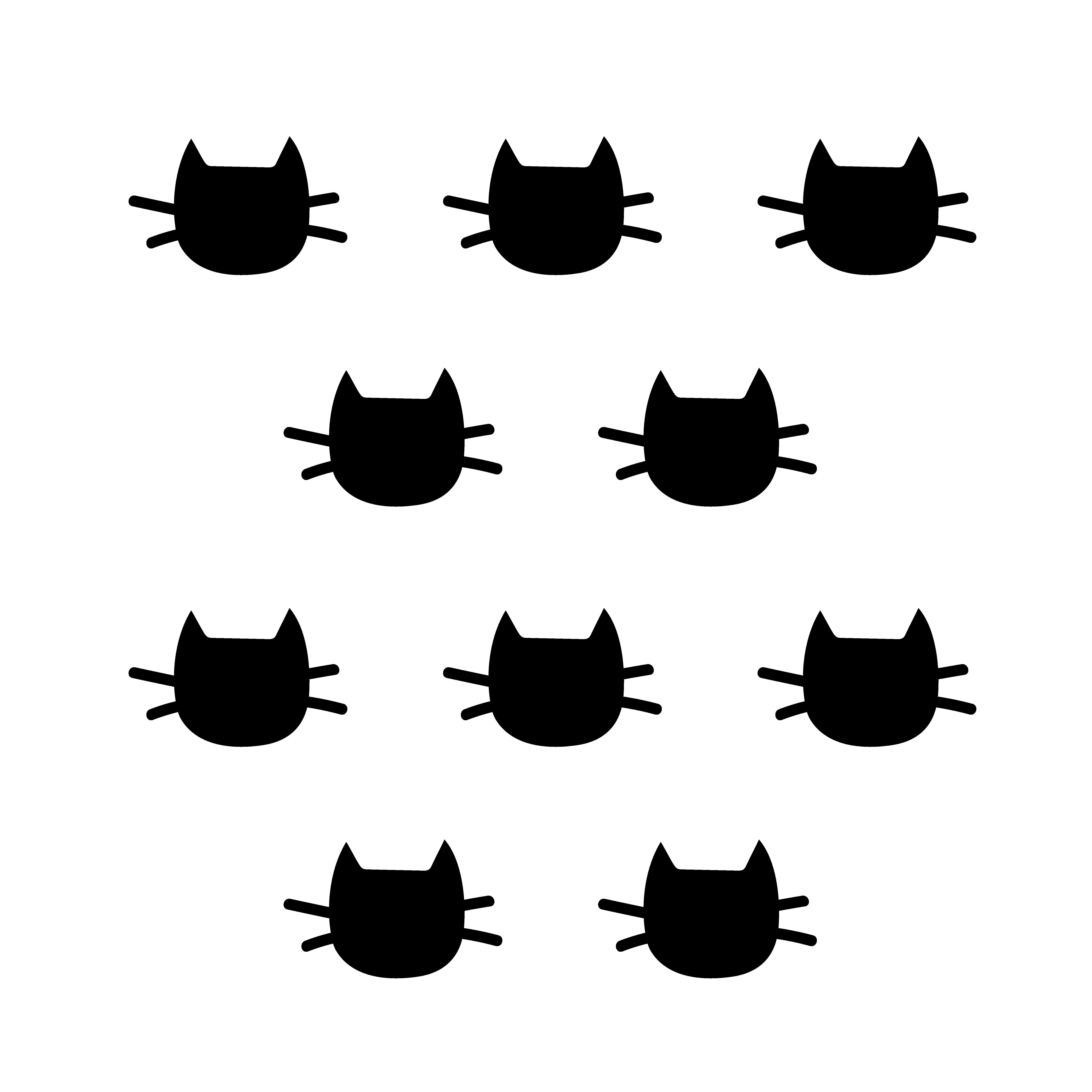 Sickers déco mur chambre enfant chat noir