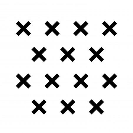 Stickers déco mur chambre enfant croix noir