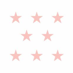 Stickers déco mur chambre enfant étoiles vieux rose