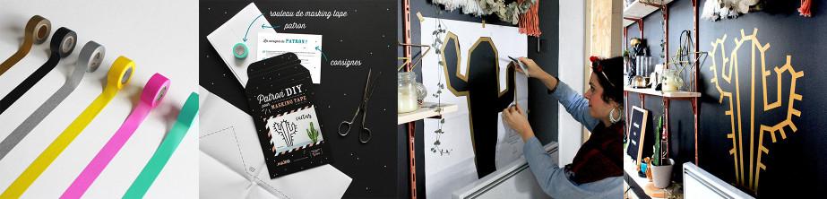 Les kits créatifs DIY pour masking tape - décoration murale | MilieO