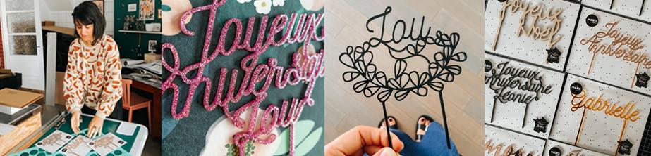 Cake toppers et déco de gâteau pour anniversaire, mariage | MilieO